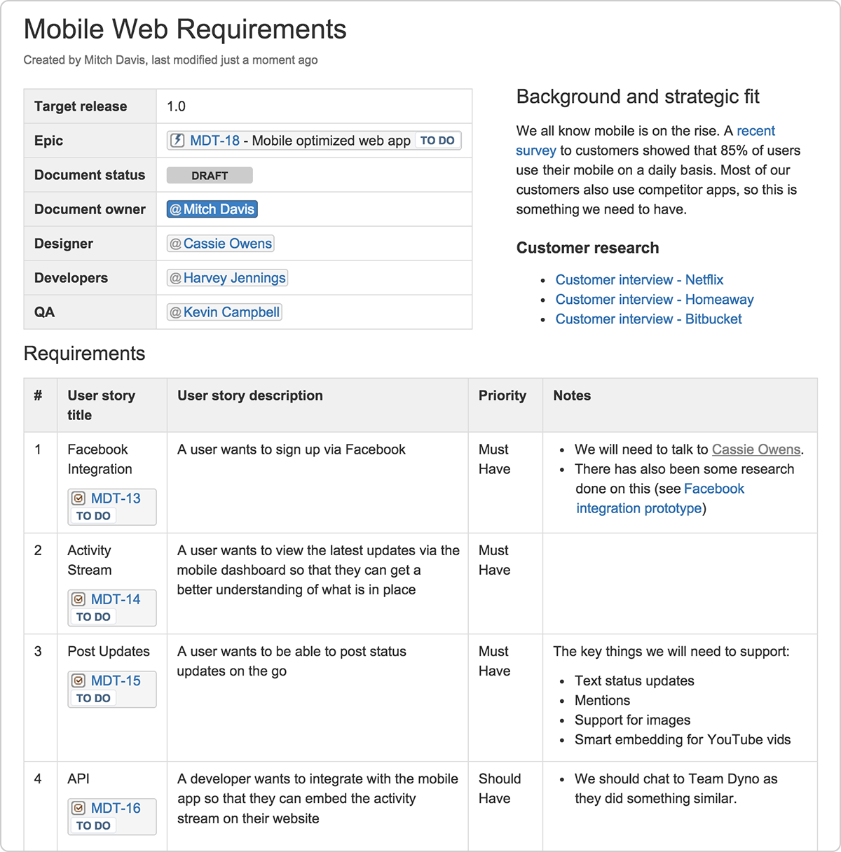 Creating A Lean Mean Product Requirements Machine The