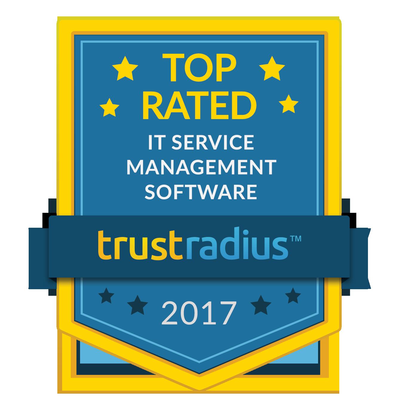 Erstklassige Bewertung auf TrustRadius