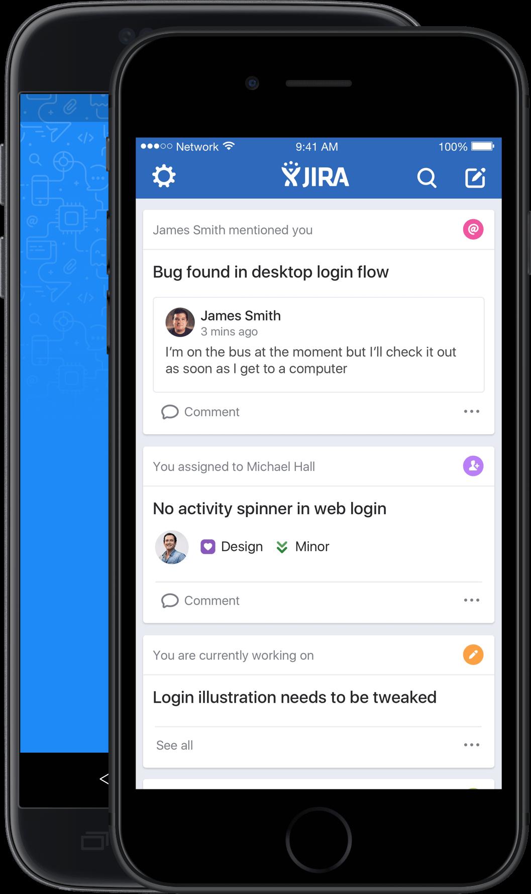 JIRA Software für iOS – Startseite
